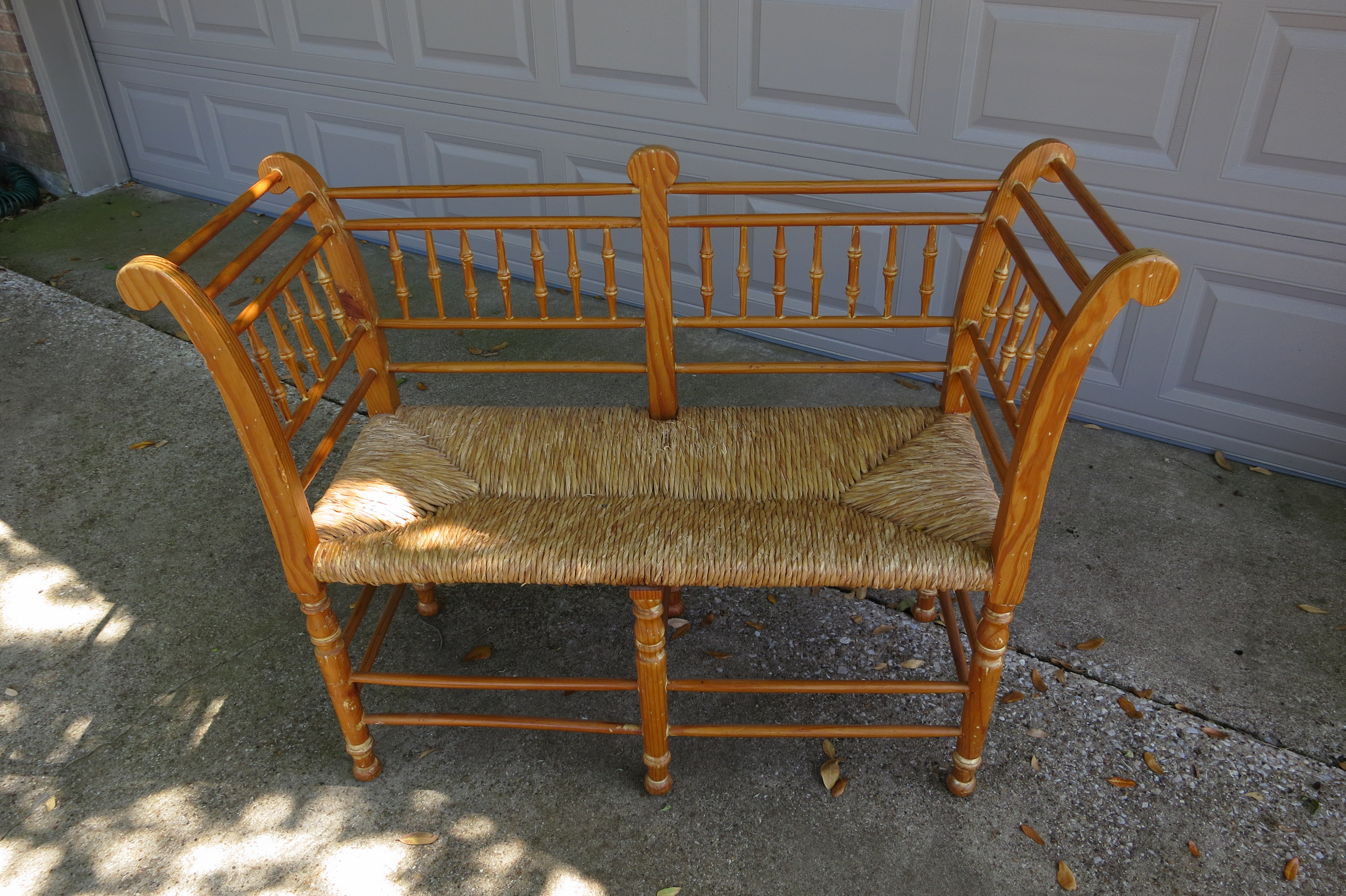 photo of natural rush seat